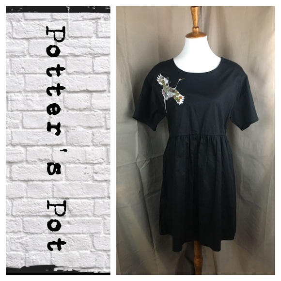 426293b0dc Potter s Pot Linen Crane Shift Dress